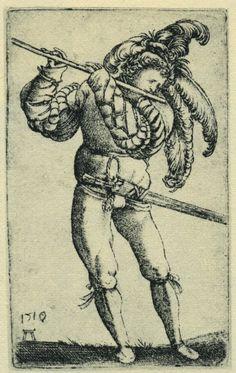 1510 Albrecht Dürer, der Pfeifer.