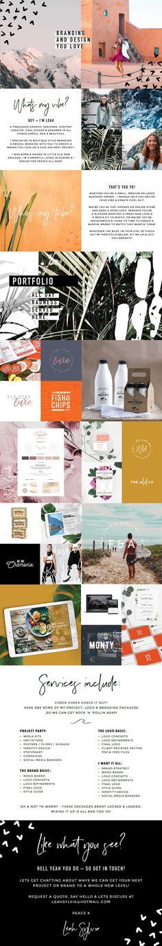 Portfolio design for Leah Sylvia Creative. Come hang & lets create something rad! Branding | Ebooks | Packaging | Social Media | Blog visuals | Identity Design | Photography