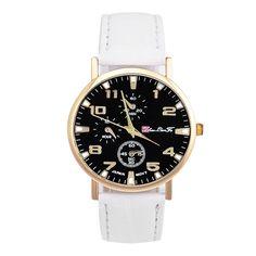 Unisex Leather Band Analog Quartz Business Wrist Watch Unique Romantic Temperament Hot Selling High Qulity Handsome Durable M1 #Affiliate