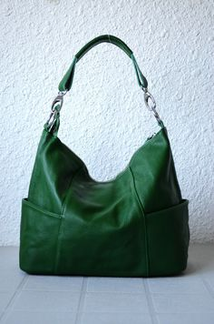 Jolie in Greenleather handbags Adeleshop hobo laptop by Adeleshop, $145.00