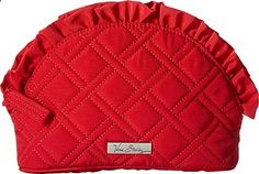 Vera Bradley Luggage Women's Ruffle Cosmetic Tango Red Luggage Accessory. View website for more description.
