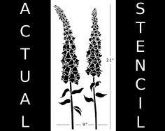 Foxglove Flowers Stencil