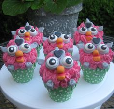 Furby cupcakes made by my 11 year old daughter.