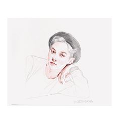 Xiumin (EXO) fan art (by: lycheepeaches)