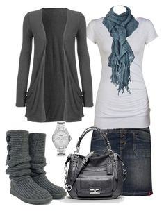 """""""Untitled #37"""" by bjmdc ❤ liked on Polyvore featuring Edc By Esprit, Coach, UGG Australia and FOSSIL"""