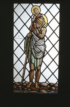 All Saint's Church, Broughton, Cambs. Detail from a stained glass window by Benjamin Finn