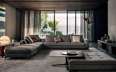 Neutral color scheme with Minotti furniture