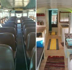 Father and Son Convert Old School Bus into Mobile Tiny Home for Cross-Country Road Trip - My Modern Met