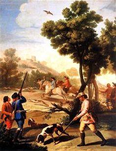 La caza de la codorniz o La partida de caza  - Francisco de Goya