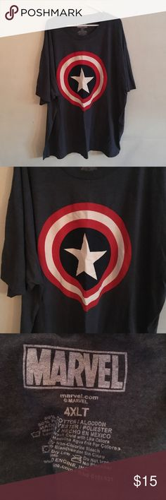 Marvel 4XL Tee Brand: Marvel  Size: 4XL  Style: Short Sleeve Tee Used condition  Smoke free and pet friendly home Marvel Shirts Tees - Short Sleeve