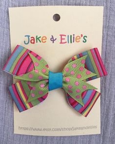 Small Colorful Hair Bow