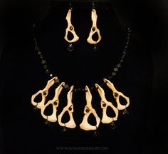 Bone Jewelry Necklace and Earrings Set