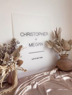 FROSTED Acrylic Wedding Welcome Sign | Modern Minimalist Wedding Engagement Event Signs | White Black or Clear Acrylic | Willow and Ink Event Signage, Wedding Signage, Modern Minimalist Wedding, Wedding Rehearsal, Wedding Reception, Sign Display, Welcome To Our Wedding, Wedding Place Cards, Wedding Designs