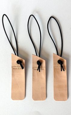 handcut luggage bag tags - diy