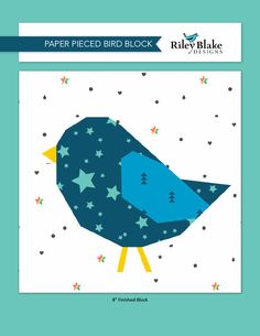 Follow the Blue Bird | Riley Blake Designs Riley Blake, Pattern Blocks, Paper Piecing, Blue Bird, Quilt Blocks, Charity, Sewing Patterns, Applique, Artsy