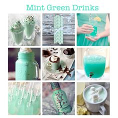 Mint Green Drinks for Mint Green Wedding. (smoothie, straws, cocktail, hot chocolate, punch, arizona tea, soda, pop, mint, cream) More mint-spirations on my blog!