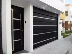 35 Trendy Ideas For Home Design Ideas Exterior Garage House Main Gates Design, Front Gate Design, Door Gate Design, Garage Door Design, House Front Design, Modern House Design, Gate House, House Entrance, Facade House