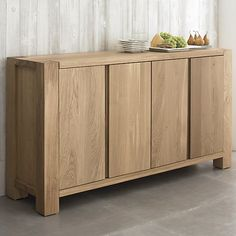 "Crate and Barrel Big Sur Sideboard  Width: 65"" Depth: 18.25"" Height: 35  $1,699"