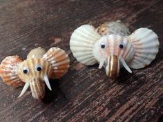 Hand Made Sea-Shell Birds And Animalls by ShellCrafters on Etsy