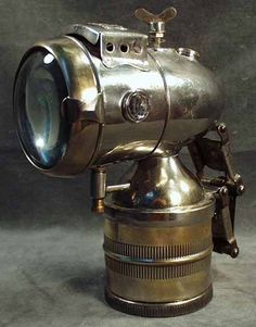 Vintage carbide bicycle lamp.: