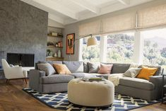 modern window treatments for living room design and decorating