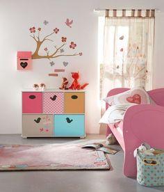 Chambre fille rose Verbaudet