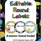 Here is a cute little monster themed label making freebie for you!  Because sometimes its nice to have cute classroom decor that even the boys will...