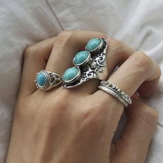 Silver + turquoise.