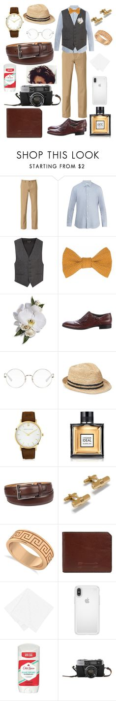 """""""My Brother's Wedding"""" by kristlynshay ❤ liked on Polyvore featuring Maison Margiela, Brioni, Alexander McQueen, Ray-Ban, Gap, Larsson & Jennings, Guerlain, Chaps, Mulberry and Allurez"""