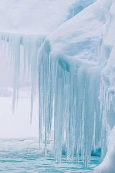 size: Photographic Print: Wind and Water Sculpted Iceberg with Icicles at Booth Island, Antarctica, Polar Regions by Michael Nolan : Artists Ice Aesthetic, Light Blue Aesthetic, Blue Aesthetic Pastel, Aesthetic Collage, Wallpaper Aesthetic, Aesthetic Backgrounds, Photo Wall Collage, Picture Wall, Blue Pictures