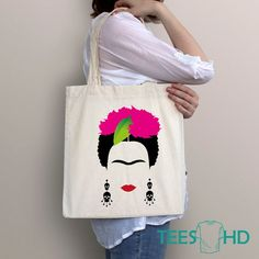 The Effective Pictures We Offer You About Tote Bag black A q Artist Bag, Frida Artist, Painted Bags, Embroidery Bags, Fabric Bags, Market Bag, Cotton Bag, Party Bags, Fabric Painting