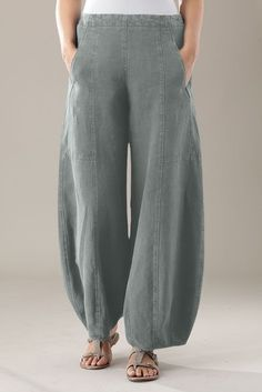 I want to make these gorgeous linen harem pants!