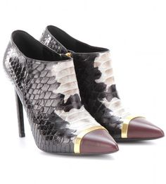 f518627bdea Paris Python Leather Ankle Boots - Lyst Leather Ankle Boots