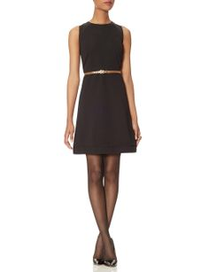 Belted Textured Dress | Women's Dresses | THE LIMITED #NYE #LBD #TheLimited