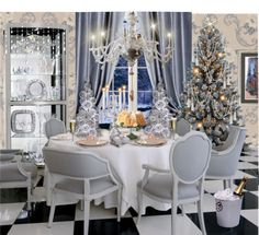 """SILVER CHRISTMAS"" by irenes on Polyvore"