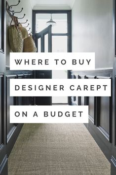 The Best Place To Buy Designer Carpets At Budget Prices - WeLoveHome - Home    hallway with dark walls and natural seagrass carpet Interior Design Advice, Interior Stylist, Hygee Home, Seagrass Carpet, Carpet Remnants, Alternative Flooring, Scandi Home, Natural Flooring