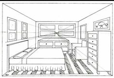 perspective room drawing com art favourites by on one point perspective room 1 point perspective two point perspective interior drawing One Point Perspective Room, 1 Point Perspective Drawing, Perspective Art, Drawing Interior, Interior Design Sketches, Croquis Architecture, Bedroom Drawing, Designs To Draw, House Design