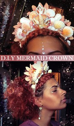 Create your own mermaid crown for a reasonable price. #crown #goddess #queen… ~ makeup