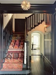 Inspire Bohemia: Bohemian Interiors IV (not crazy about the colors, but rugs down the stairs might be good for kids)