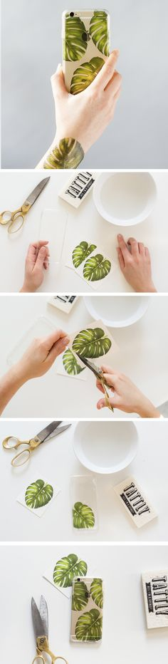 Tattly DIY Clear Phone Case tutorial. Tattly Blog.