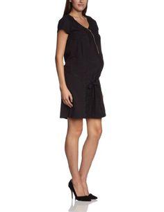 Mamalicious - Vestido premamá de manga corta para mujer, talla 44, color negro