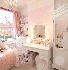 I wish my mother had prepared me, rather than dropping me in at the deep end. I went away for a week, camping with the Scouts and returned to find my bedroom had been completely transformed! Dream Rooms, Dream Bedroom, Girls Bedroom, Bedroom Decor, Bedrooms, Bedroom Ideas, Princess Room, Princess Anna, Pink Room