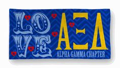 Alpha Xi Delta Love Bath & Beach Towel