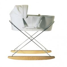 Escudama Culla - cradle / bassinet with rocking base similar to Eames rocker