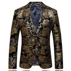 Online Cheap 2015 Men'S Blazers Gold Blazer For Men Suit 2014 Autumn And Winter High Quality Brands Men'S Velor Married Suit Plus Blazer Slim Man By Lichaohai | Dhgate.Com