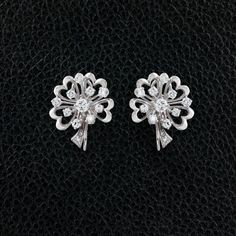 Diamond Hearts & Flowers Earrings – CRAIGER DRAKE DESIGNS®