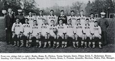 Trump on the varsity soccer team (front row, fourth from the left).