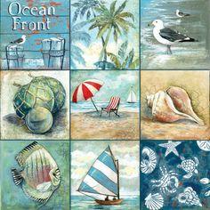 deniz sea ocean blue dekupaj kağıtları