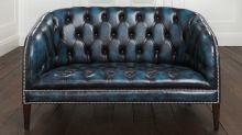 Burghley Chesterfield Sofa. Love the color of this!