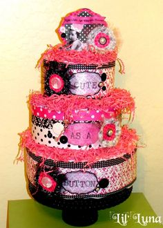 Learn how to make a diaper cake for a baby shower